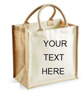 d878cf2f2 Image Unavailable. Image not available for. Colour: Personalised  Embroidered Classic Jute Tote Canvas Shopping Bag ...