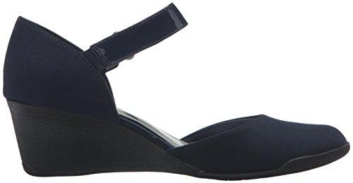 Anne Klein Sport Tasha Fabric Womens Ankle Strap Navy