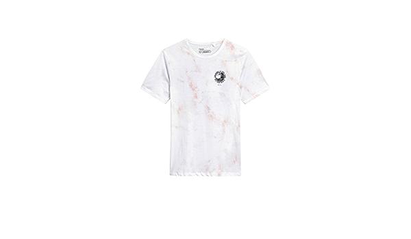 next Hombre Camiseta Desteñido Nudo Estampado Gráfico Rosa ...