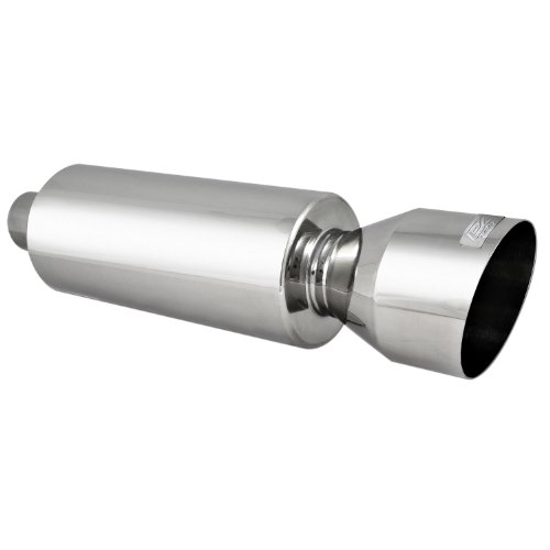 DC Sport EX-5018 Stainless Steel Round Muffler and Slant Cut Exhaust Tip