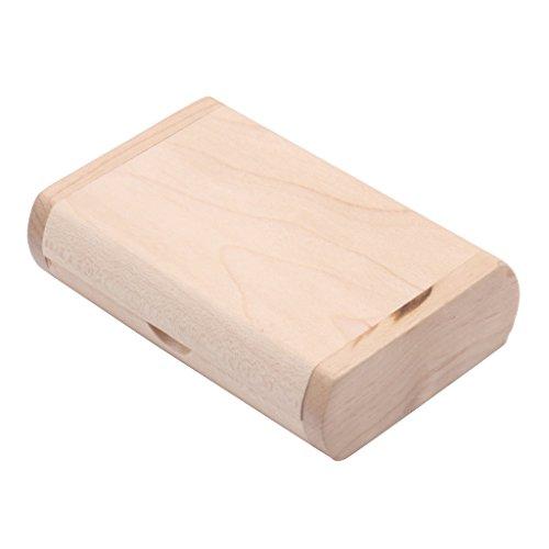 MonkeyJack 32G Maple Wood Oval USB 2.0 Memory Stick Thumb Pen Flash Drive U-disk with Protective Case Box
