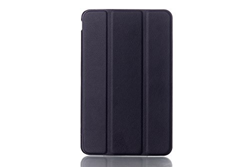 Raydes Dell Venue 7 Case - Caster Series Slimline Case - Folio Slim Hard Shell Stand Case Cover with Auto Wake/Sleep Feature - for Dell Venue 7 (2013) / New Venue 7 3000 Series (2014) 7-Inch Android Tablet, Black