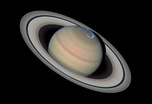 Space Poster of a Saturn Aurora Fine Art Print