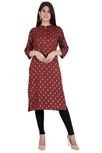 Women's Rayon A line printed kurti Calf Length Kurti for Women||Women's Rayon Regular Kurti Casual Office Wear Kurti (JITARWAL ENTERPRISES)