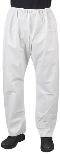 Lakeland MicroMax NS Microporous General Purpose Pant with Elastic Waist, Disposable, 2X-Large, White (Case of 50)