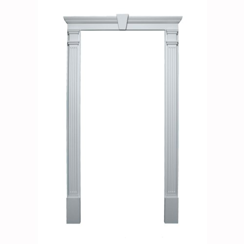 Decorative Door Trim (Fypon 20020 Door Trim Kit with Crosshead, Pilaster & Keystone, for Door Sizes 36