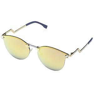 Fendi Women's Iridia Rimless Bottom Sunglasses, Gold/Multi Layer Gold, One Size