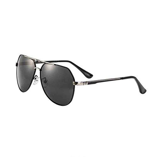 ligero polarizadas con sol de simple conducción Black los gafas de peso Silver Sunny Grey Grey de Color de HD cómodo estilo HONEY de hombres antideslumbrante pesca Gafas Silver Black nYvExRC