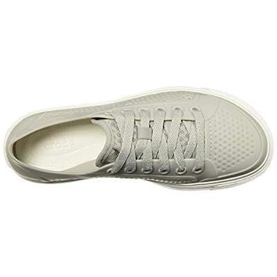 Crocs Women's Citilane Roka Court W Flat, pearl white, 5 M US | Shoes
