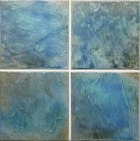 6x6 Porcelain Wall Pool Tile - Vista VI-42 Tahitian Cove (Tile Pool)