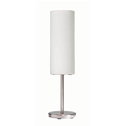 Dainolite Lighting 83205SCWH 1 Light Table Lamp, Satin Chrome from Dainolite Lighting