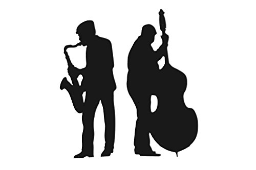 TCDesignerProducts Black Sax and Bass Players Life Size Cardboard Standup Party Decoration by TCDesignerProducts