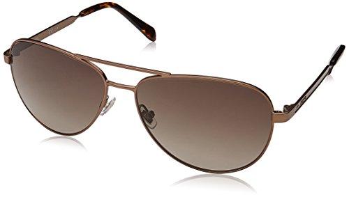 Fossil Women's Fos 3065/s Aviator Sunglasses, MATTEBROWN, 58 mm