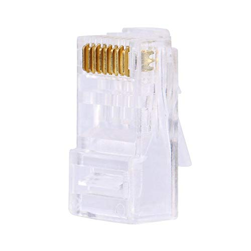 Eboxer 100 Pieces Cat 6 Cat6 Modular Plugs, RJ45 8P8C Modular Plug, Durable Tools Kit for Internet Connector Network Cable Repairing ()