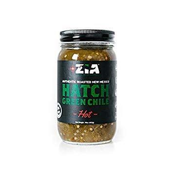 ZIA GREEN CHILE COMPANY, Grn Chile, Hot, Hatch, Pack of 6, Size 16 OZ, (Gluten Free Low Sodium Vegan Wheat Free Yeast Free) by ZIA GREEN CHILE COMPANY (Image #1)