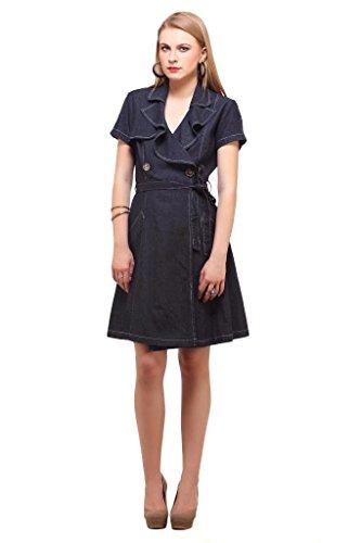 Ladybug Womens Denim Wrap Dress product image