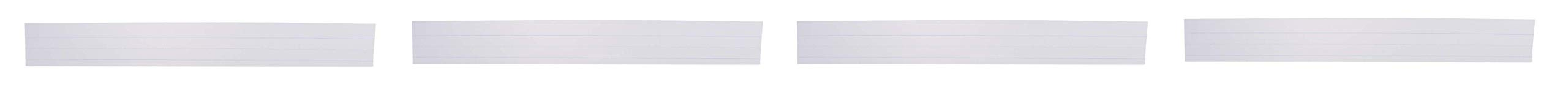 School Smart Ruled Sentence Strips, 3 x 24 Inches, White, Pack of 100 (Fоur Paсk)