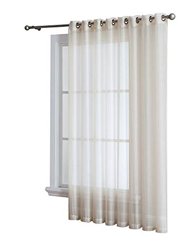 Grommet Semi-Sheer - 1 Extra Wide Patio Curtain Panel - 102