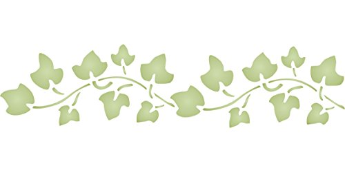 "(Ivy Stencil - (size 6""w x 1.5""h) Reusable Wall Stencils for Painting - Best Quality Wall Border Leaf Stencil Ideas - Use on Walls, Floors, Fabrics, Glass, Wood, Terracotta, and More…)"