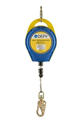 Defy Self-Retracting Lanyard - 50' Galvanized / RL-PS-50FT-GALV