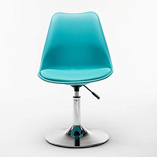 Barstolar Xiuyun kontorsstol spelstol svängbar stol datorstol, fritidsförhandlande ryggstöd stol med skivbas och justerbar höjd svängstol (färg: G)