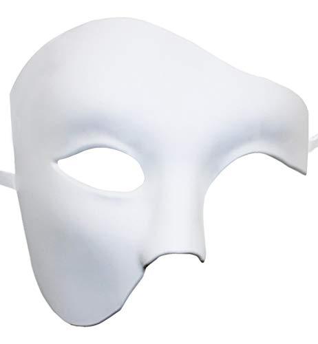KEFAN Mens Mask Halloween Mask Masquerade Phantom of The Opera Half Face Mask -