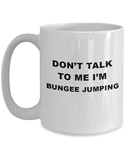 Extreme Sport Hobby Gifts - Funny Bungee Jumping Tea/Coffee Cup, Unique Coworker/Friend Coffee Mug For Bungee Jumping, Ceramic