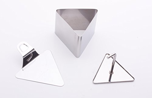 The Original Sushi Tower Kit Add-On Component – 3pc Triangle Shaped Personal Tower Set – Premium Stainless Steel Sushi Making Set – The Art of Elevated Sushi – Homemade Gourmet Sushi Your Way