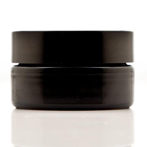 Infinity Jars 50 Ml (1.7 fl oz) Cosmetic Style Black Ultraviolet Glass Screw Top Jar