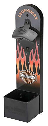 Harley-Davidson Flames Wall Mount Bottle Opener, 12 inch Height HDL-18584