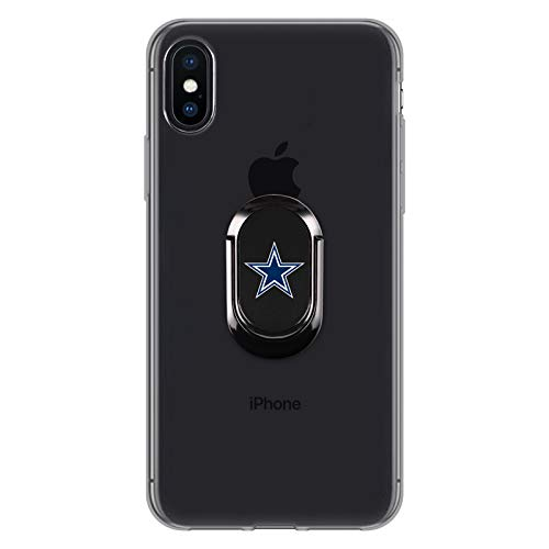Official NFL Dallas Cowboys Logo Black Phone Ring (Football Cell Phone Holder)