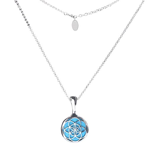Clearance Women Necklace Daoroka Stainless Steel Pendant Sleep Fitness Monitor For Misfit Shine Necklace Jewelry Valentines Gift (50.5cm/19.9, Silver) (Circle Necklace Station Pearl White)