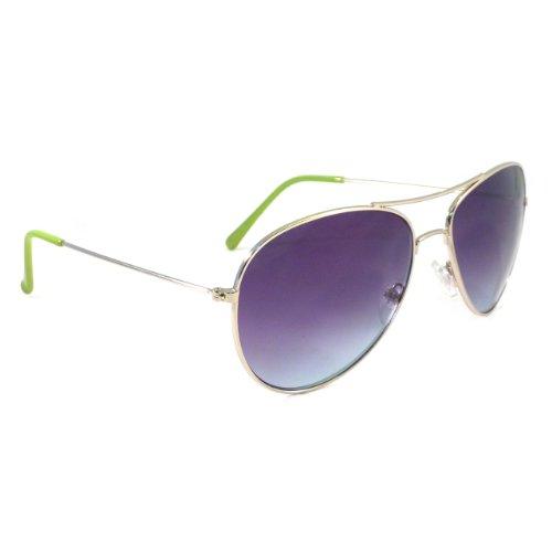 AIR FORCE Aviator Retro Pilot Silver Metal Shades Sunglasses - Shades Aviator Cruise Tom
