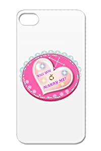 VALENTINES WILL YOU MARRY ME Red Case For Iphone 4s Valentines Love Holidays Occasions Valentine's Day