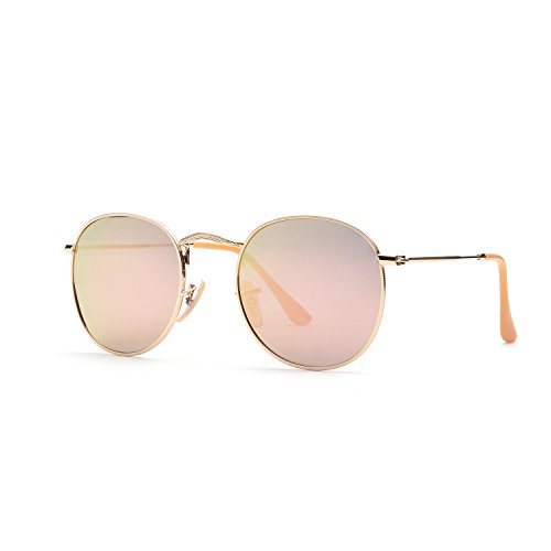 ZOGEEN Classic Metal Frame Round Circle Mirrored Sunglasses Men Women Glasses 3447 - Shape Sunglasses Face Oval For What
