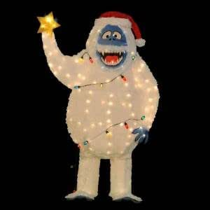 Life size 5 ft bumble abominable snowman for Abominable snowman outdoor christmas decoration