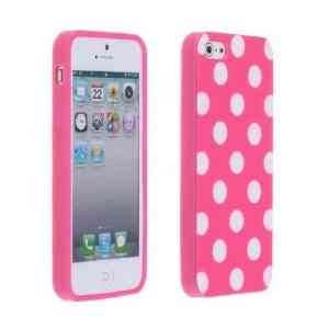 Polka Dot Pink Shell Cover Back Case for Apple iPhone 5/5s
