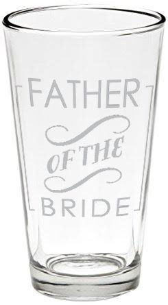 Father Beer Glasses (1, Father of Bride), Original (Of Beer 1 Glass)