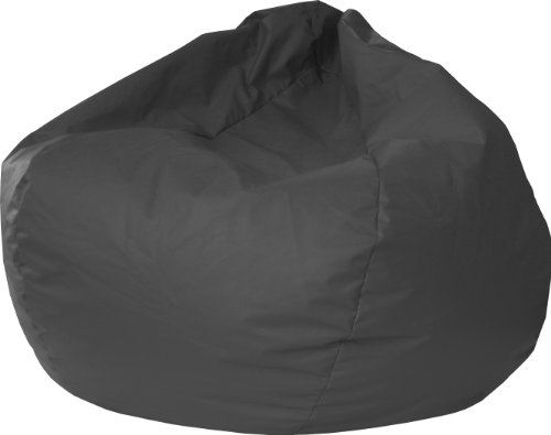 Gold Medal Bean Bags Leather Look Vinyl Bean Bag, XX-Large, Black