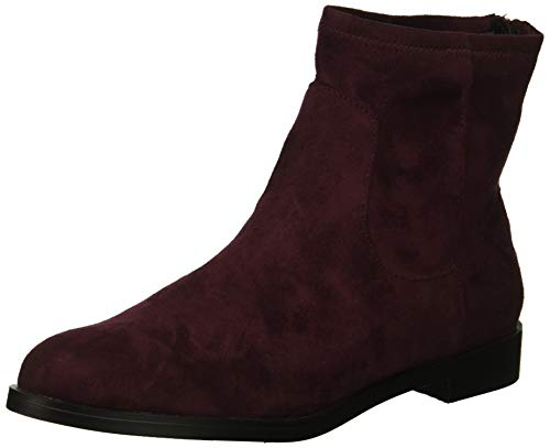 Kenneth Cole REACTION Women's Wind Ankle Bootie Stretch Boot, Burgundy, 8 M US