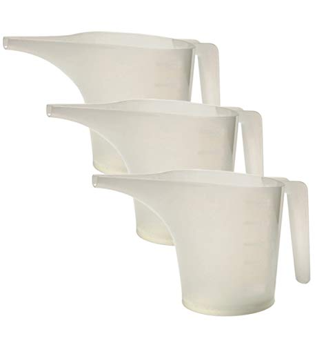 Norpro 2-Cup Measuring Funnel Pitcher Translucent White Batter Pouring (3-Pack)