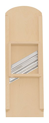 K&K Premium Krauthobel mittel aus bestem Buchen-Holz , 3-Messer aus Edelstahl, 24x60 cm