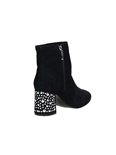 Borchie Caf Stivali Stivali Di Con Donne Noir Tacco Camoscio Stivali Lc544 Zip Nere q1RvTqa