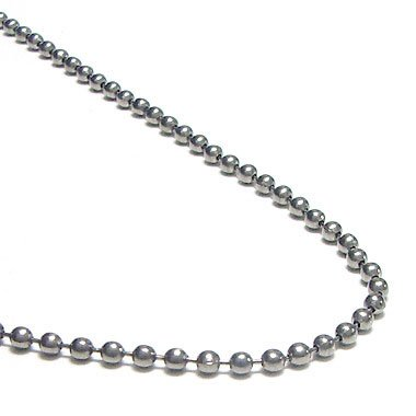 sterling chain ball silver necklace bead