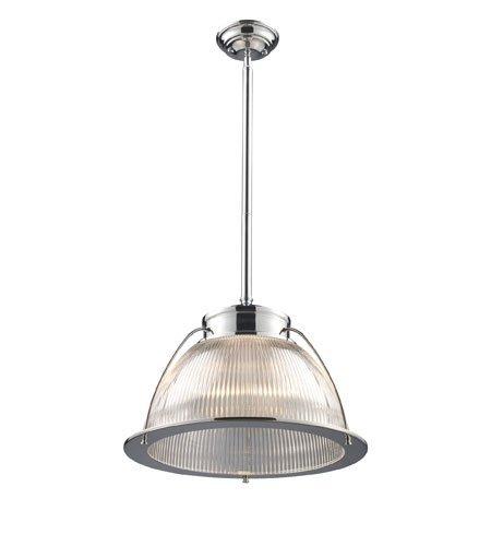 Pendants 1 Light with Polished Chrome Finish Medium Base 16 inch 150 Watts - World of Lamp