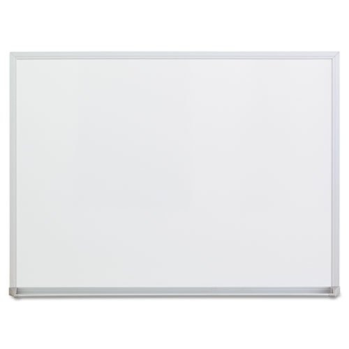 Universal 43622 Dry-Erase Board, Melamine, 24 x 18, Satin-Finished Aluminum Frame by Universal