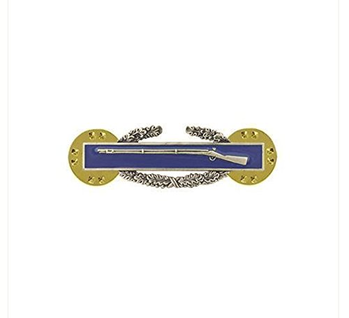 Vanguard ARMY DRESS BADGE COMBAT INFANTRY FIRST AWARD MINIATURE, SILVER OXIDIZED Award Combat Infantry Badge
