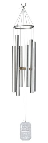 Earth Song Wind Chimes - Grace Note Chimes 1PT Earthsong Wind Chimes, 30-Inch, Silver