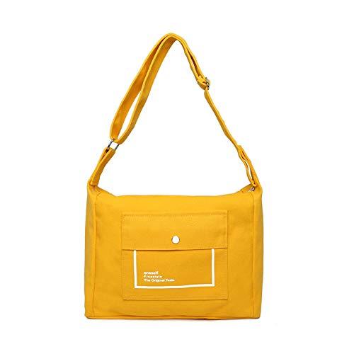 Yellow Body Bags À Lettre Impression Shopping Cross Main Ynnb Bandoulière Épaule Toile Filles Étudiant Pour Dames Bag Sac yellow x4qRHRwvUz