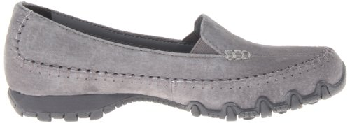 Pedestrian collo Donna Charcoal Scarpe Bikers a Skechers Grey basso qxwHT75U